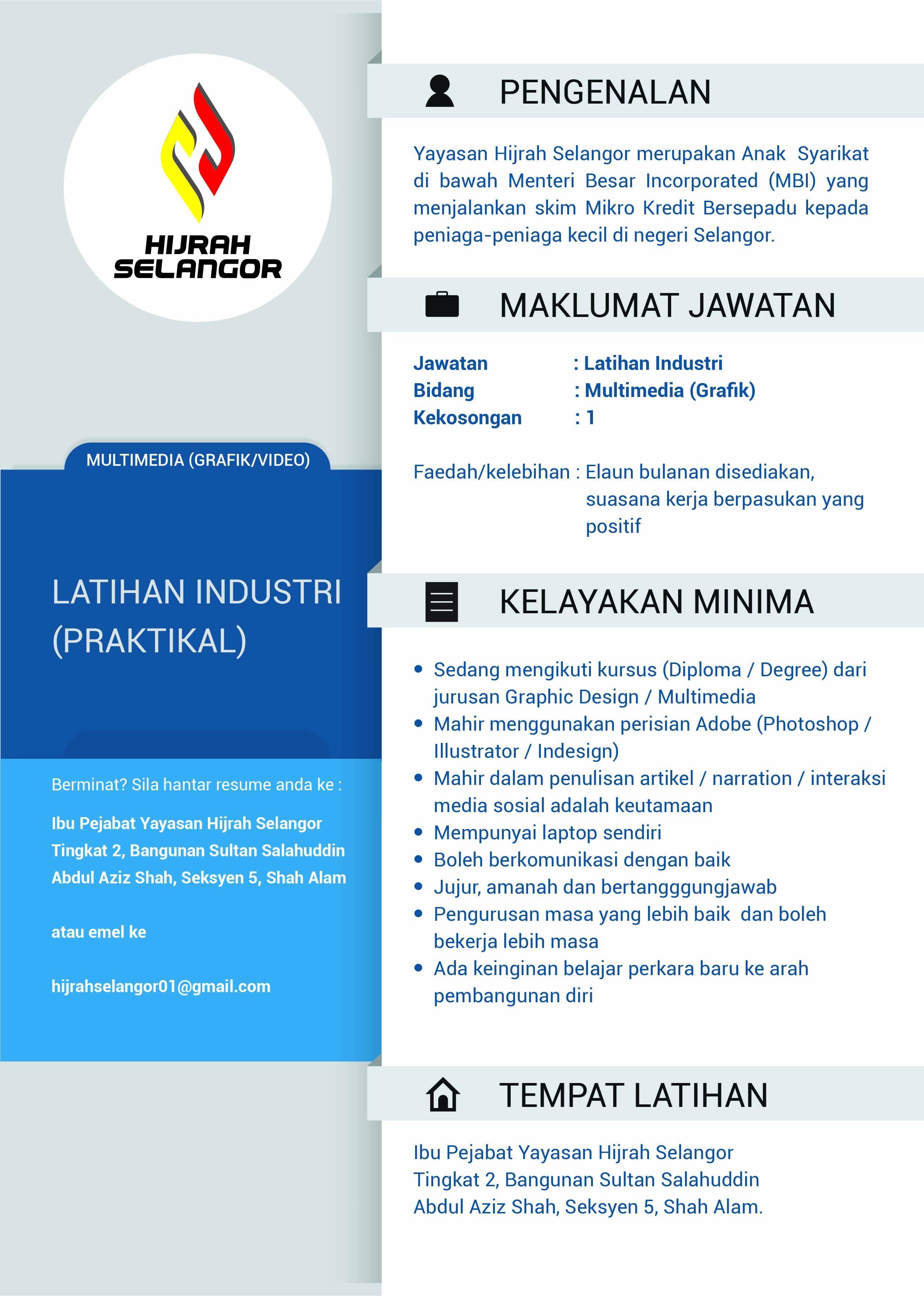 Jawatan Kosong Hijrah Selangor